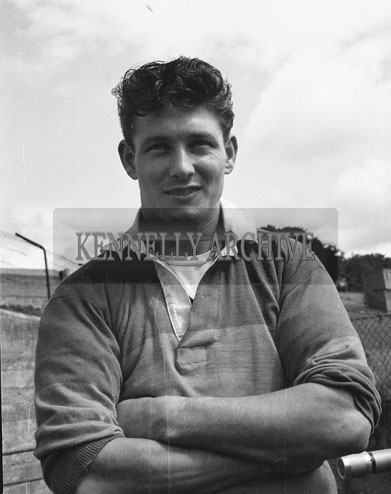 August 1962; A member of the Kerry Team poses for the camera.