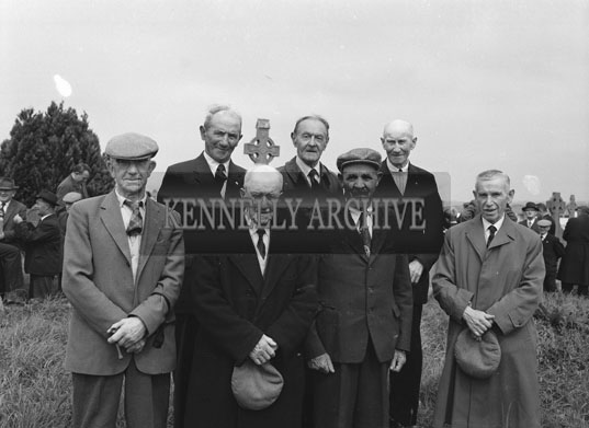 12th August 1962; A photo taken at the Funeral of Maurice McCarthy at Rath cemetary. Maurice was a full-back for Kerry in 1903 and helped to bring the first All-Ireland Football title to Kerry.