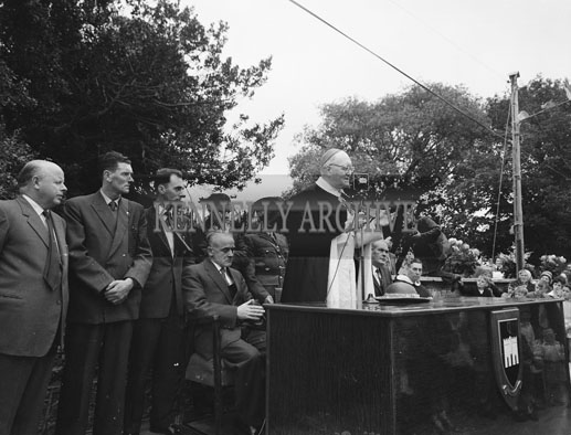 14th August 1962; A photo taken during Cardinal Bowne's visit to the Holy Cross Dominican Priory in an open cadillac. He was on a tour of the Dominican Houses in Ireland and was given a tremendous welcome in Tralee.