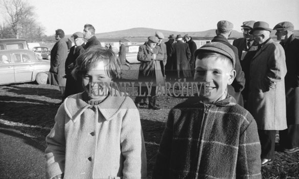 24th December 1962; A photo taken at a coursing event which took place at Ballybeggan Park.