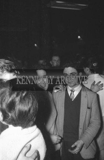 28th December 1962; People enjoying the night at a dance which took place at the CYMS Hall in Tralee.