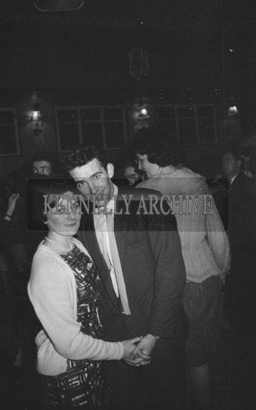 31st December 1962; People enjoying the night at a dance which took place in Ballymacelligott.