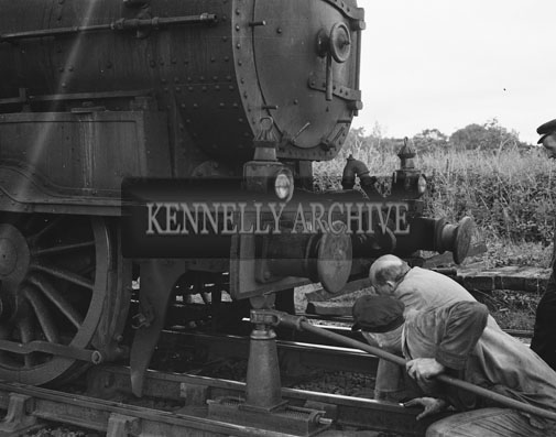 18th August 1962; A photo taken after a train derailment at Ballybrack.