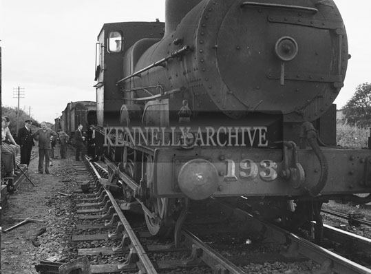 18th August 1962; A photo taken after a train derailment at Ballybrack.