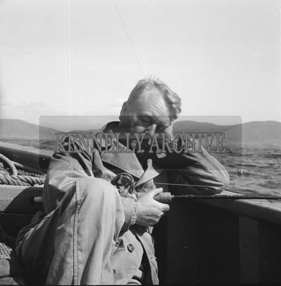25th August 1962; A man asleep onboard a boat during the European Offshore Angling Competition which took place off the coast of Caherciveen.