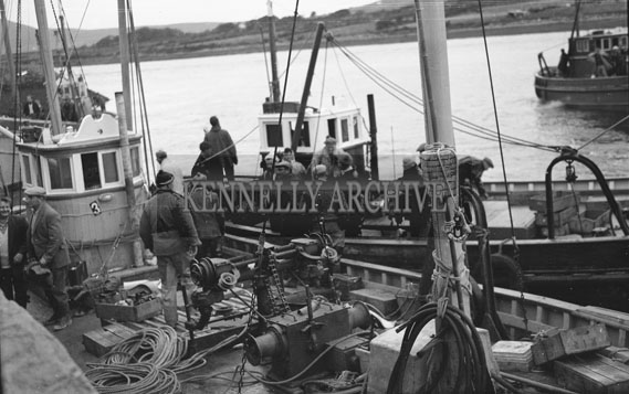 25th August 1962; A photo taken during the European Offshore Angling Competition which took place off the coast of Caherciveen.