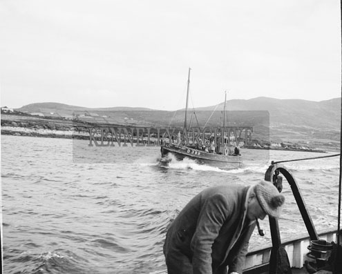 25th August 1962; A boat at sea during the European Offshore Angling Competition which took place off the coast of Caherciveen.