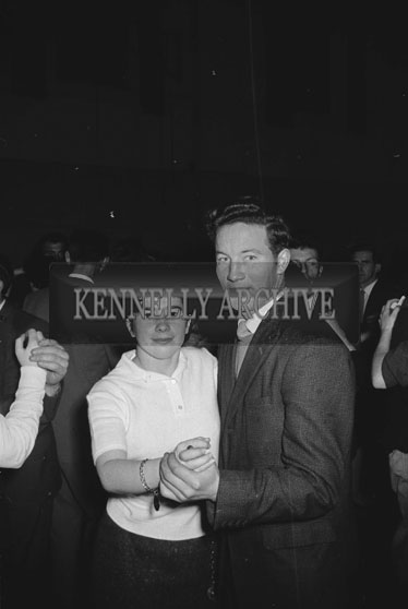 23rd December 1962; People enjoying the night at a dance which took place at the CYMS Hall in Tralee.