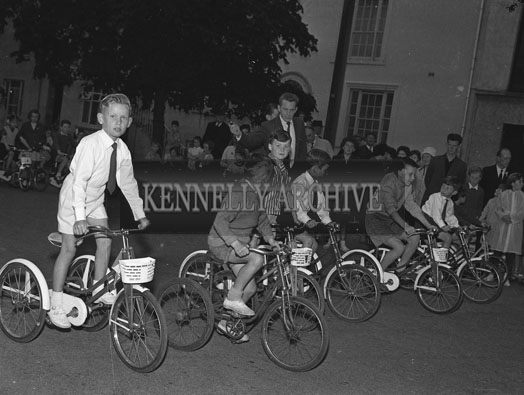 2nd September 1962: Contestants in the Children's Tricycle Race which took place in Princes Street in Tralee.