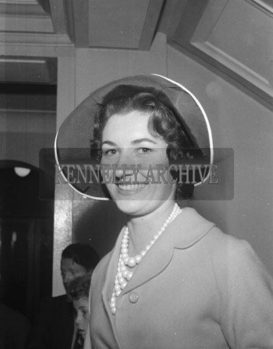 7th September 1962: One of the Contestants in the Rose of Tralee poses for the camera in Tralee.
