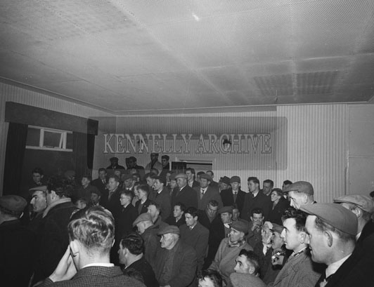 27th December 1962; A protest meeting at the Grand Hotel of the Kerry Greyhound Owner's Association. The meeting was called after the Kingdom Cup was cancelled at Ballybeggan Park. The Start of the days coursing had been delayed because of frost on the ground. Finally the directors of the coursing meeting decided at 12:45 that the ground was fit for coursing but the Greyhound owner's considered it too hard.