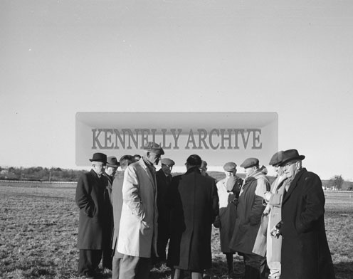 27th December 1962; A photo taken at a coursing event which took place at Ballybeggan Racing Track. The Racing resumed after the Kingdom Cup had been abandoned due to frost on the ground earlier in the day and a subsequent protest by the greyhound owners as they considered the ground to be too hard.
