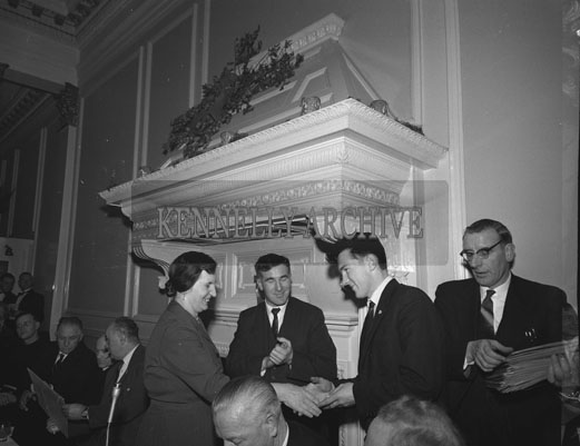 30th December 1962; Dr Jim Brosnan, Bruddy Burrows and Tadhg Crowly at the Annual GAA Dinner in the Great Southern Hotel In Killarney.