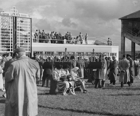 6th September 1962; People enjoying the day at the Tralee Races during the Festival Of Kerry.