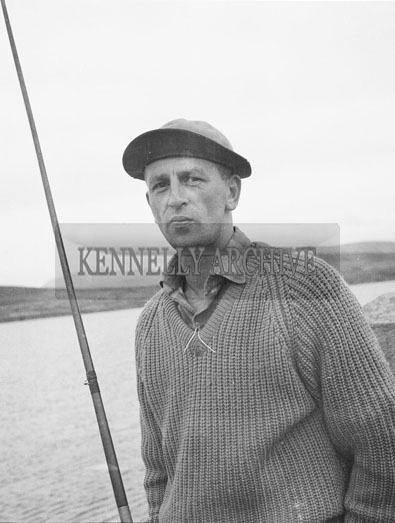 8th-9th September; A contestant in the Munster Open Shore Angling Competition which took place in Dingle.
