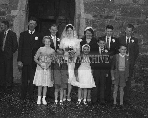 September; A photo taken at the Horgan/O'Connor Wedding which took place at the church in Castlemaine and was followed by the reception in the Strand Hotel in Inch.