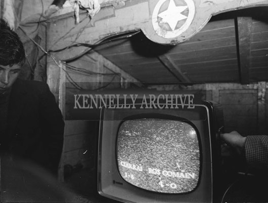 September; A television at an unknown location during the 1962 All-Ireland football final between Kerry and Roscommon.