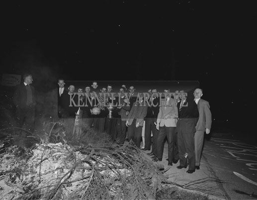 24th September 1962; A photo taken of some of the celebrations at the return of the Kerry Team who beat Roscommon 1-12 to 1-6 in the All-Ireland Football Final.