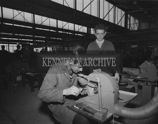 26th September 1962; A photo taken at the opening of Jowika Ltd which manufactured cutlery for export at Cahirdown in Listowel. The factory was blessed by the Reverend Peter Canon O'Sullivan and was officially declared open by An Taoiseach Sean Lemass.