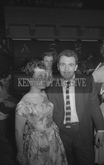 21st September 1962; People enjoying the night at a dance which took place at the Ashe Memorial Hall in Tralee. Music at the dance was provided by Donie Collins and his band.