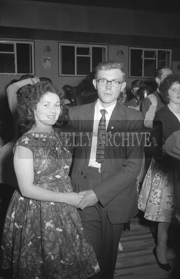 23rd September 1962; People enjoying the night at a dance which took place in Ballymacelligott. Music at the dance was provided by Phil Mummelly.