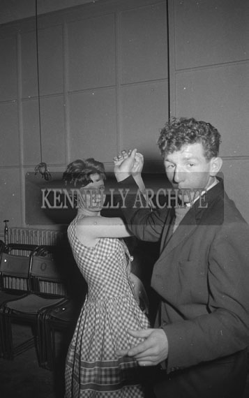 23rd September 1962; People enjoying the night at a dance which took place at the CYMS Hall in Tralee. music at the Dance was provided by the Woodpeckers Band.