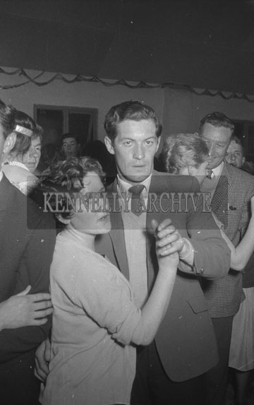 25th September 1962; People enjoying the night at a dance which took place in Currow. Music at the dance was provided by Denis Cronin and his orchestra.
