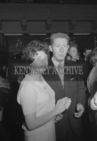 7th October 1962; People enjoying the night at the a dance which took place at the Ashe Memorial Hall in Tralee. Music at the dance was provided by the Regal Showband.