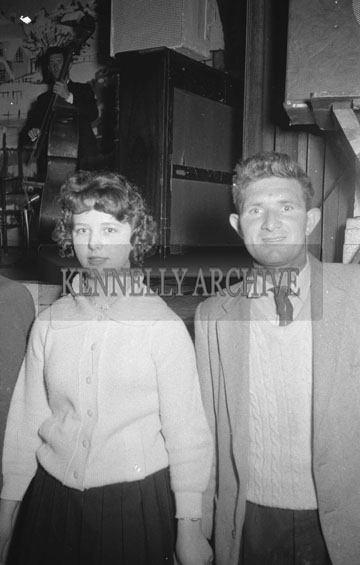 7th October 1962; People enjoying the night at a Ceili which took place at the CYMS in Tralee.