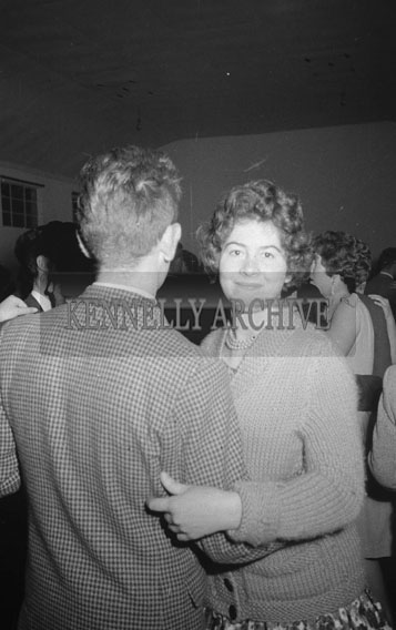 10th October 1962; People enjoying the night at a dance which took place in Milltown.