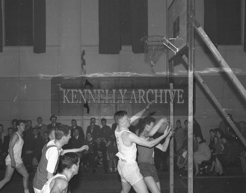 13th October 1962; A photo taken at the Inter-Provincial Championship Semi-Final between Munster and Leinster which was held at the CYMS hall in Tralee. Munster were defeated by Leinster 39 points to 36 points.
