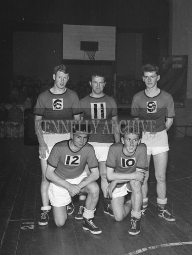 13th October 1962; The Connaught Basketball Team pose for the camera at the Inter-Provincial Championship Semi-Final between Ulster and Connaught which was held at the CYMS hall in Tralee. Ulster defeated Connaught 42 points to 18 points.