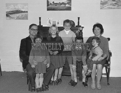 October 1962; The McKenzie Family pose for the camera at their home in Denny Street in Tralee.