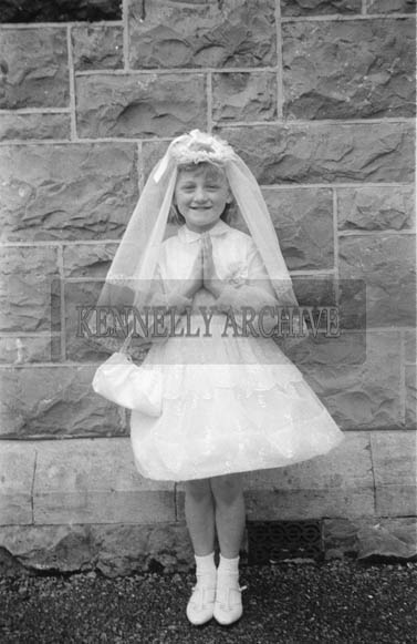 1964; Posing For The Camera On Communion Day In Castleisland.