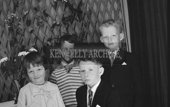 27th June 1964; A Boy and His Siblings Posing For The Camera on His Communion Day.