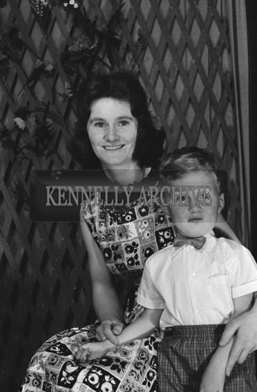 27th June 1964; A Boy and His Mother Posing For The Camera on Communion Day In Tralee.