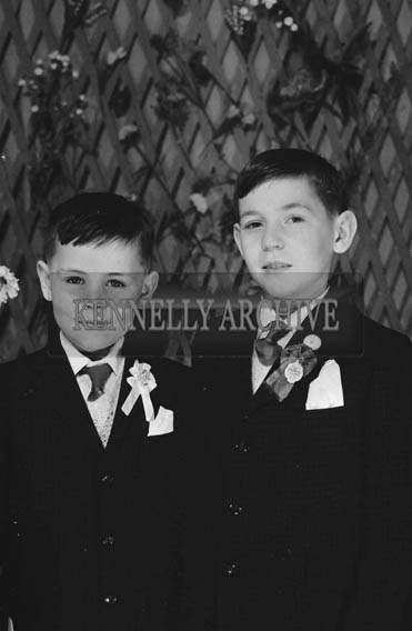 27th June 1964; Two Boys Posing For The Camera on their Communion Day.
