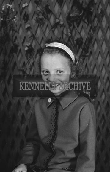 27th June 1964; A studio confirmation photo of Marion Parker, Ashe Street, Tralee.
