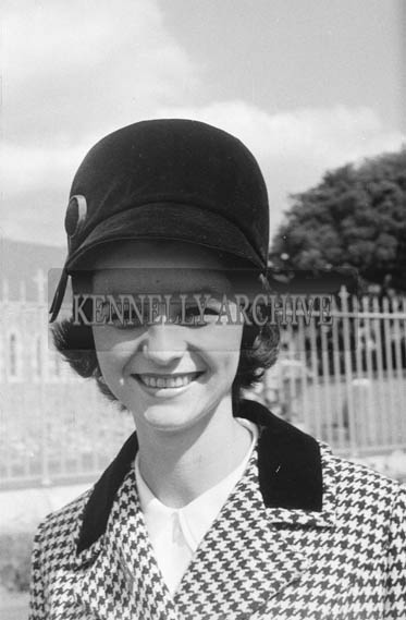September 1964; A Contestant For The Rose Of Tralee Festival Poses For The Camera.