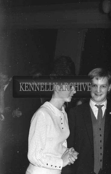 23rd October 1964; Billy Daly, Killarney, and friend enjoying the night at the Hotel Manhattan.