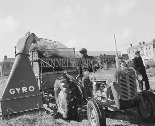 1964; Photo of A Farmer With A Silage Maker.