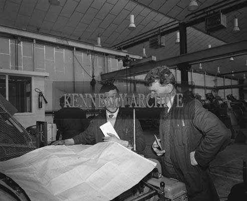 1964; Photo Taken at the Kerry Precision Ball Factory in Clash.