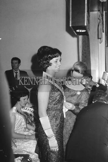 5th May 1964; Breda Gaine From Kenmare who won the Kerry Rose Title at The Kerry Rose Of Tralee Contest at Ballybunion's Central Ballroom.