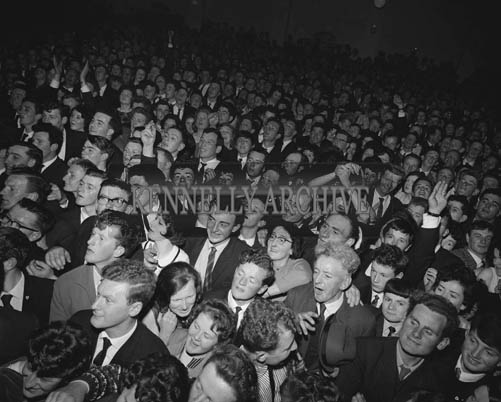 5th May 1964; The Kerry Rose Of Tralee Contest at Ballybunion's Central Ballroom, where Breda Gaine from Kenmare won the Kerry Rose title.