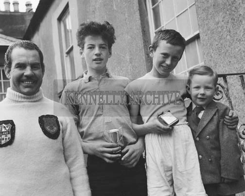 5th May 1964; Officers of The Desmond Boxing and Youth Club with some of the members who received prizes, at a function held in the Club Rooms.