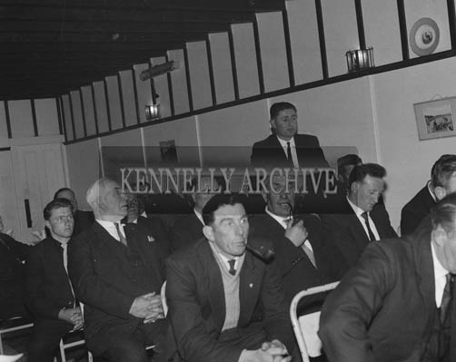 16th May 1964; The chairman of An Board Iascaigh Mhara, Mr Brendan O'Kelly discusses with members the issues regarding the facilities for holding fish.