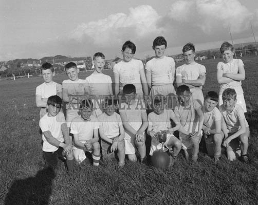 May 1964; Cahill's Park, winners of the Kerin's O'Rahillys Under 13 Football League Final for the Father Drummond Cup.