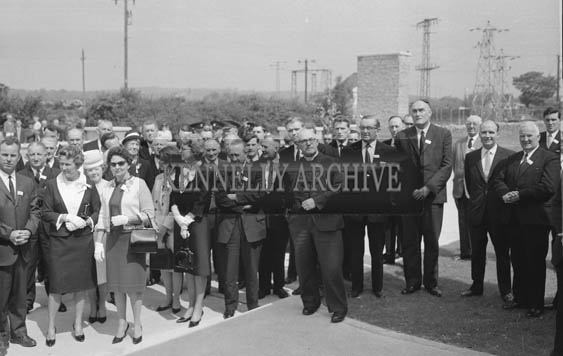25th May 1964;  Guests at the official opening of the Kerry Precision Ball Bearing Company in Tralee, attended by the Minister for Industry and Commerce Mr Jack Lynch. The factory was the first of its type in Ireland.