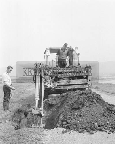 27th May 1964; The transatlantic cables being dug up on the island of Valentia.