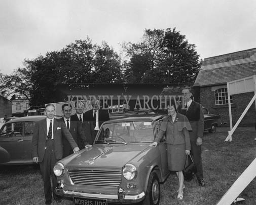 26th/28th May 1964; A Morris 1100 on display at the Trade Fair at the Kingdom County Fair in Tralee.